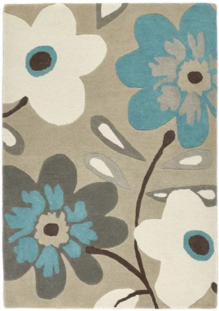 Flower Pop Teal/Grey